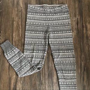 GARAGE Sweater Legging Joggers Grey White